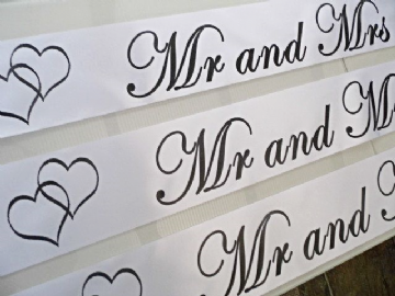 Personalised Wedding Banner - White